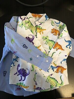 Blue Zoo Boys Shirt Dinosaur And Rocket Age 2-3 Years Debenhams Long Sleeve • 2£