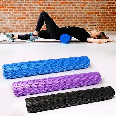 AU27.99 • Buy Physio EVA Foam Yoga Roller Gym Pilate Back Training Exercise Massage 90x15cm