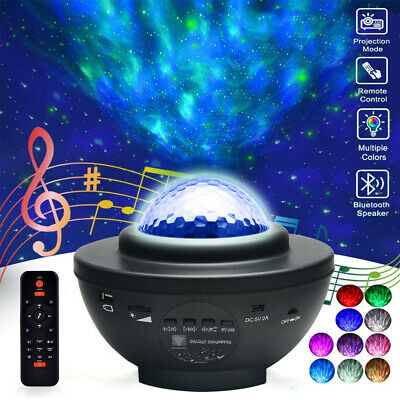 AU36.99 • Buy Bluetooth LED Galaxy Starry Night Light Projector Ocean Star Sky Party Lamp Gift