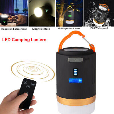 AU23.88 • Buy Rechargeable LED Camping Lantern Outdoor Spotlight Torch Tent Light Power Bank