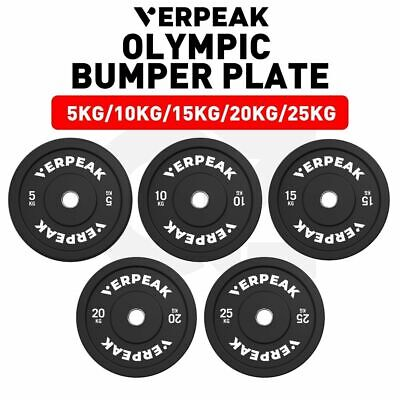 AU70.69 • Buy Verpeak Olympic Rubber Bumper Weight Plates 5-25KG Home Gym Workout Fitness
