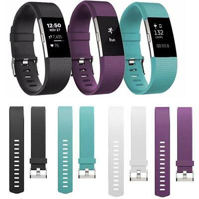 AU4.29 • Buy For Fitbit Charge 2 Band Replacement Silicone Gel Strap Bracelet Wristband Sport