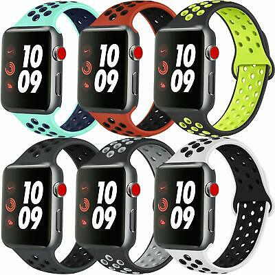 AU5.59 • Buy For Apple Watch IWatch Series 65432 Silicone Replacement Strap Band 38 40 42 44m