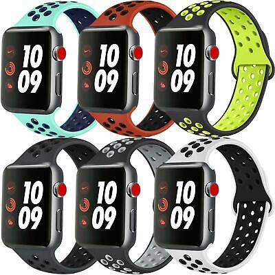 AU5.59 • Buy For Apple Watch IWatch Series 7 Se65432 Silicone Replacement Strap Band 38-45mm