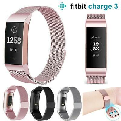 AU8.99 • Buy For Fitbit Charge 2 Band Metal Stainless Steel Milanese Loop Wristband Strap AU
