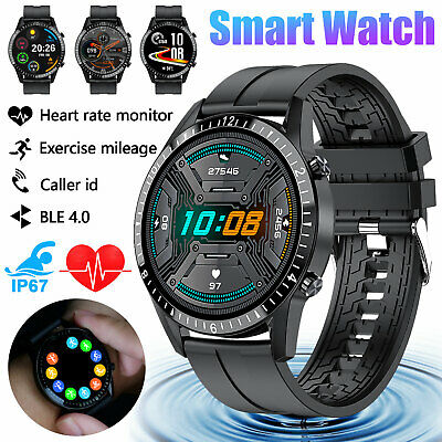AU39.99 • Buy Waterproof Smart Watch Blood Pressure Oxygen Heart Rate Monitor For Android IOS