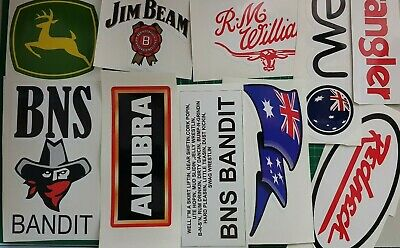 AU25 • Buy UTE,AGGIE,AUST,BNS STICKERS 1 Pack Of 10 Mixed Stickers FOR WINDOWS,ESKY,4WD,CAR