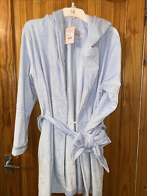 £55.99 • Buy Light Blue Ted Baker Dressing Gown Size 12-14 New Tags Hooded Gown