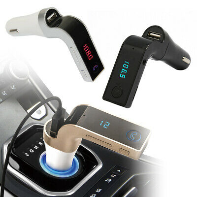 AU10.56 • Buy G7 FM Transmitter Bluetooth Car Kit Hands-free USB Charger Adapter MP3 Player AU