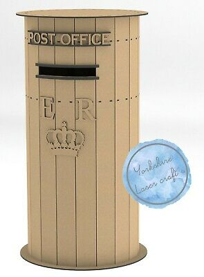 £29.99 • Buy Y402Wooden Wedding Post Box, Royal Mail Style MDF Cards Letters Gifts Messages