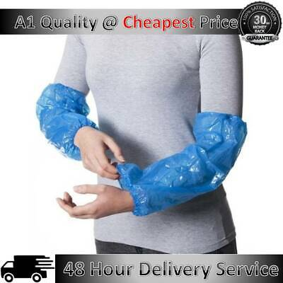 2000 Disposable Plastic Arm Sleeves Covers Over Sleeves Cleaning Protective • 6.99£