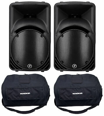 $929.96 • Buy 2) Mackie C300Z Compact 12  Passive 2-Way PA Speakers Or Monitors+2) Carry Bags