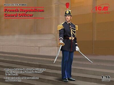 £19.99 • Buy ICM 1/16 Scale French Republican Guard Officer - Figure Kit