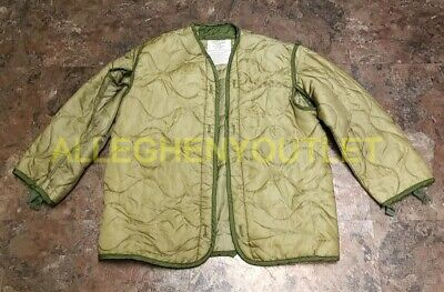 $19.90 • Buy US Army Military M-65 FIELD JACKET QUILTED COAT LINER OD Green Size Small EXC