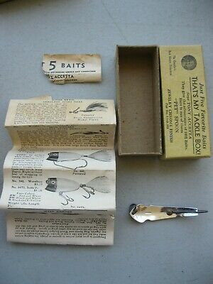 $ CDN15.69 • Buy Vintage Cleveland, Ohio Tony Accetta Pet Spoon Fishing Lure With Original Box An