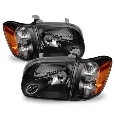 $189.95 • Buy Toyota 05-06 Tundra Double Cab 05-07 Sequoia Black Housing Replacement Headlight