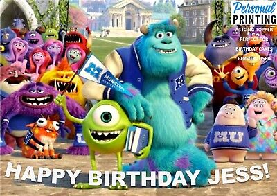 £6.49 • Buy MONSTERS INC UNI A4 Edible Icing Cake Topper Kids Birthday Movie Love Mike Sully