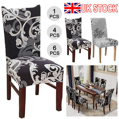 £3.69 • Buy Stretch Dining Chair Covers Spandex Seat Cover Slipcovers Wedding Room Banquet