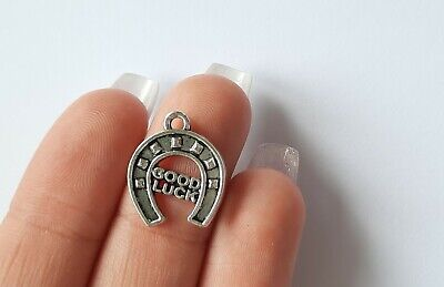 £2.40 • Buy Lucky Horseshoe Charms Pendants For Jewellery Making And Weddings Pack Of 10