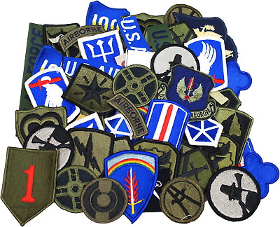 $42.99 • Buy Lot Of 100 Assorted US Military Army Patches Insignia Rank Sew On Patches