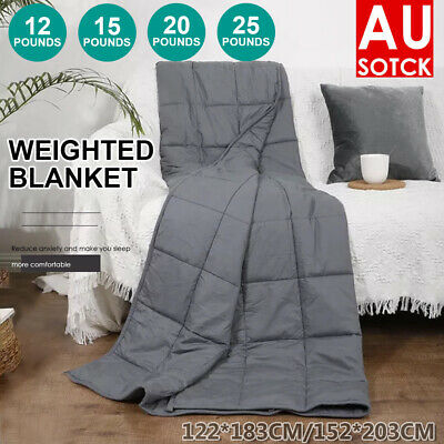 AU60.56 • Buy DreamZ Weighted Blanket Heavy Gravity Deep Relax Bamboo Adults Kids 5.5/7/9/11KG