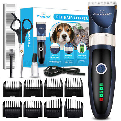 £18.79 • Buy Professional Pet Dog Grooming Clipper Thick Fur Hair Trimmer Electric Shaver Set