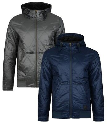 Ringspun Krarup Diamond Quilted Hooded Jacket Short Bomber Fashion Quilt Coat • 34.99£