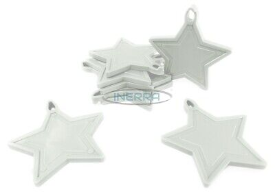 £3.69 • Buy INERRA® White Star Balloon Weights For Helium Balloons - Pack Size Options