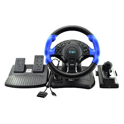 £74.21 • Buy Racing Game Steering Wheel Pedals Kit Driving Simulator For Xbox  /360 PC