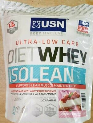 £19.99 • Buy USN Diet Whey Isolean, Ultra Low Carb, 1kg, Strawberry Cheesecake