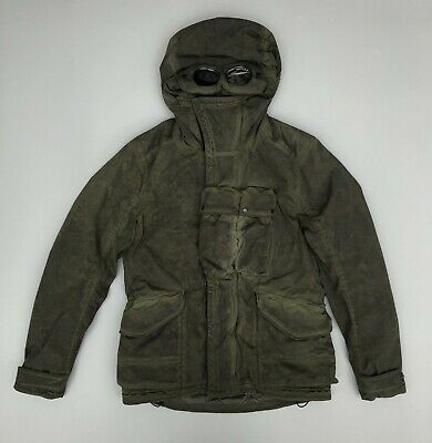 Cp Company Nycra Re Colour Goggle Jacket Dark Green RRP £855 Osti Casuals • 545£