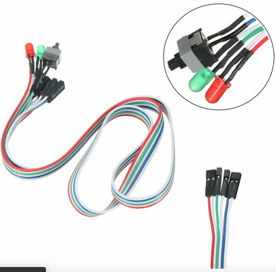 £1.11 • Buy ATX PC Computer Motherboard Power Cable Switch On/Off Reset Button Replacement