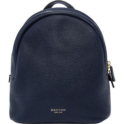 AU109 • Buy Navy Color Small Size New Oroton Full Leather Avalon Backpack Hand Bag BNWT