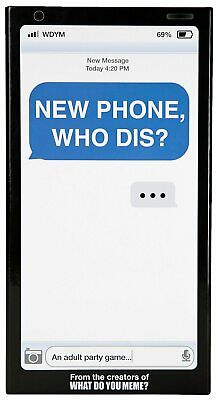 AU30.13 • Buy What Do You Meme New Phone, Who Dis Party Game One Size Black