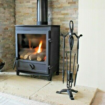 £19.95 • Buy JVL 5 Piece Cotswold Fireside Classic Companion Log Burner Tool Set With Stand