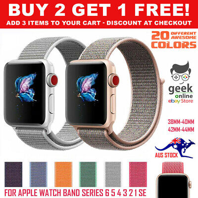 AU6.55 • Buy For Apple Watch IWatch Sports Band Series 6 5 4 3 2 1 SE 38mm 40mm 42mm 44 Strap