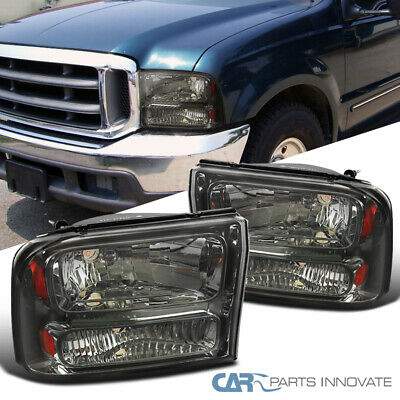 $106.35 • Buy For Ford 99-04 F250 F350 Super Duty 00-04Excursion Smoke/Tinted Headlights Lamp