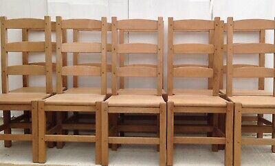 £495 • Buy 10 Solid Wood Beech Dining Chairs