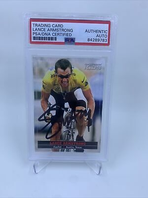 £290.87 • Buy Lance Armstrong Signed Sports Illustrated For Kids Card IP Auto PSA/DNA