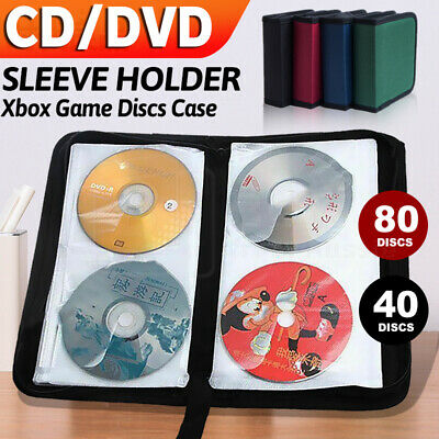 AU12.58 • Buy 80 40 DVD CD DISC Holder Oxford Storage Case Folder Wallet Carry Bag Organizer
