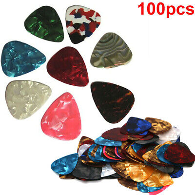 AU9.98 • Buy 100x Acoustic Electric Guitar Celluloid Picks Plectrums 0.46mm Thickness Pick AU