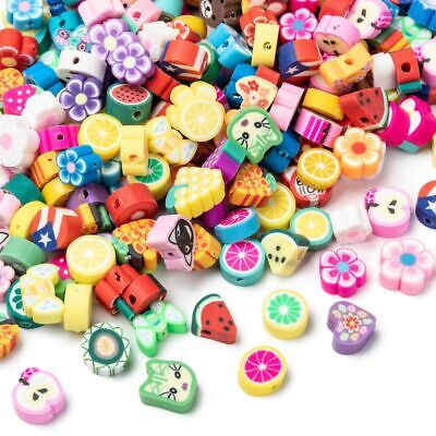 £2.80 • Buy Handmade Polymer Clay Beads, Mixed Shapes, Mixed Colours Pack Of 25