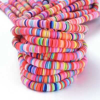 £2.80 • Buy Polymer Clay Heishi Beads Disc Mixed Colours 6mm 380~400pcs/strand