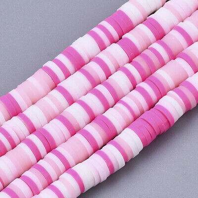 £2.80 • Buy Polymer Clay Beads 4mm Hot Pink DIY Jewellery Crafts Ideal For Bracelet Making