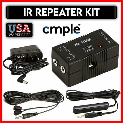 £17.74 • Buy Compact IR Remote Control Repeater Infrared Kit System Satellite TV Amplifier