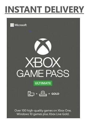 $ CDN6.02 • Buy XBOX LIVE GOLD + Game Pass Ultimate Code (14 Days, 1 Month, 3, 6 And 12 Months)
