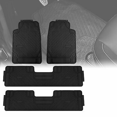 $42.99 • Buy 3 Row Car Floor Mats For All Weather Rubber Tactical Fit Heavy Duty Black