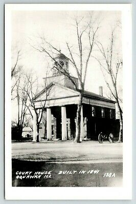 $ CDN13.75 • Buy Oquawka IL~Cannon & Old-Fashioned Well Water Pump, Courthouse, Winter RPPC C1950