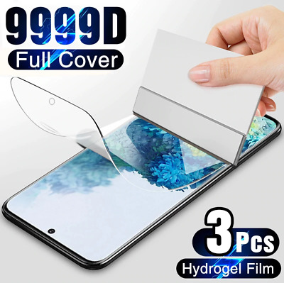 $ CDN6.81 • Buy 3Pcs Protective Hydrogel Film Screen Protector For Samsung Galaxy S21 S20 S10 S9