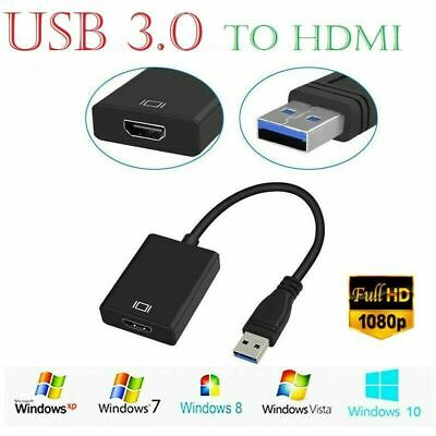 £8.95 • Buy USB 3.0 To HDMI Video Audio Cable Adapter Converter 1080P HD For HDTV PC Laptop